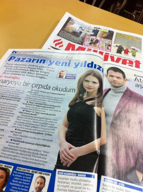 merve duysak (@merveduysak): Bana göre Cumartesi gününün en güzel röportajı #milliyettv @amalkoc1903 #OHayatBenim http://t.co/6LsnTZ8U3N