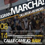 RT @RonaldR_VP: Sabado #8M marchamos en #Barinas saldremos del mercado La Carolina 9AM #ElQueSeCansaPierde http://t.co/Bw6MFiv14A
