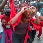 CRYING RT @PolokoTau: A woman tearing #EFF t-shirts as a large group enters ANC Limpopo offices to rejoin the ANC http://t.co/RX6Bu9wvB3