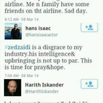 When the actor, actress, and comedian show their dissappointment about Zed Zaidis rude jokes. ZZ, boo #PrayForMH370 http://t.co/pCacCcGGBL