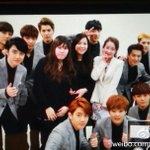 """@Baekyeoliee: EXO and staff ❤ http://t.co/p7gnltzMgF"""