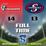 Full Time: Crusaders 14, Stormers 13 #SuperRugby #CRUvSTO #PlayYourPart http://t.co/VZ4tpH0Y8x http://t.co/IcaxzzL6Nm