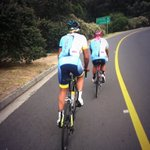 What an #awesome pre race ride this morning #CapeTown @ESMEROcycling @ACTIVATEdrinkSA @imran_abbas1 @ShaunaSwartz http://t.co/06kmImUzJ7