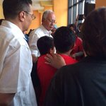 PM @NajibRazak and @HishammuddinH2O consoling family members of the crew at KLIA #PrayForMH370 #MH370 http://t.co/zlnPN2MlJh