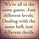 We're all in the same game.