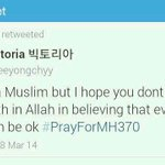 "even Victoria F(x) #PrayForMH370 while Zed Zaidi making a idiot joke""@HOYYALINN: ""@alyabazilah: Thanks Victoria fx. http://t.co/98cYUu3bb1"""""