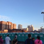 Its a beautiful port-a-potty kind of morning in downtown Louisville. #rodescityrun #Louisville http://t.co/zK2SyiWO0t
