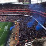 Everton fans at The Emirates today. #EFC http://t.co/GRjn0kQVfq
