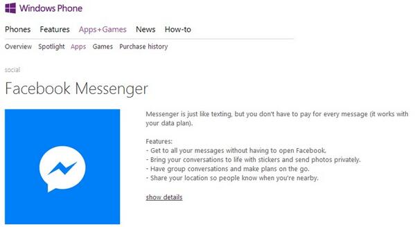 #windowsphone gets #Facebook messenger. Have you downloaded it yet? #airtel