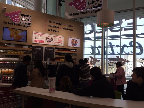 Herd on down to the brand new yoomoo cafe  in Tesco Woolwich for yummy yogurt and great offers @Tesco http://t.co/2ZKGOIQ8Cu