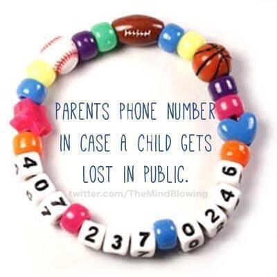 A brilliant idea in case your child gets lost. http://t.co/DneR4v3sZO