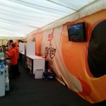 In the ginger grouse tent #backingblue http://t.co/j3xQcgFHhU