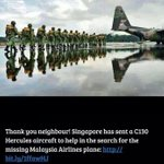 RT @danial_fox: Thank you Singapore!!!! #MH370 #MalaysiaAirlines http://t.co/9GbZHfaTfn