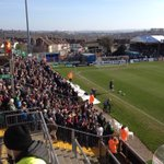 Not much room left on the away terrace. The Green Army are in the sunshine. #pafc http://t.co/nkeHvJwuXM