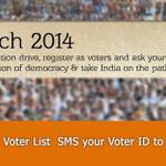 """Go to your polling booths toda (9th March) & register your name is in Voter List to be eligible to vote. http://t.co/K82WBsLoPv"""