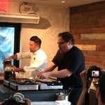 At @BravoTopChef winner @QUIAustin restaurant cooking @kogibbq tacos! #SXSW14 #ChefMovie @ComcastVentures http://t.co/eB7pwL4BB0
