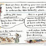 The new reality... @cathywilcox1 cartoon #auspol #Unemployment #feminism #forests #asylumseekers http://t.co/sGIJGmFecx