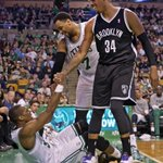 RT @BaxterHolmes: Great @BostonGlobe photo of @paulpierce34 helping up his old teammate @RajonRondo last night: http://t.co/36qaNl2o1v