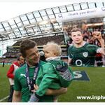 You Did It Dad! Brian ODriscoll & daughter Sadie on the pitch after the match @irfurugby @RTErugby @Rugbyworldmag http://t.co/RyNMCaskij