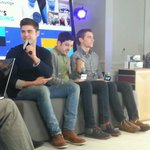 .@ZacEfron Dave Franco and  @MintzPlasse are here now at the #SamsungSXSW Blogger Lounge! #SXSW