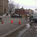 2-vehicle crash at Norfolk and Church Lane, Guelph. Minor injuries reported. N/b Norfolk blocked. http://t.co/joWvuedQzQ