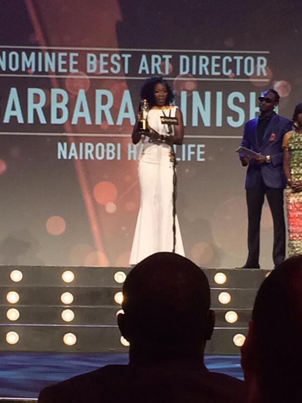 Best Art Director! Barbra Minishi #NairobiHalfLife!!!! Boooooooom!!!!! #AMVCA2014 http://t.co/txnaBiOYOD