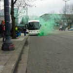RT @ccbloodworth: Union player bus arrives and this happens #RCTID http://t.co/iPXHIcbV9X