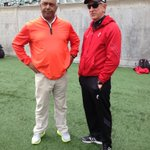 Look who was chatting it up with @TTuberville at todays #Bearcats scrimmage at PBS @wcpo http://t.co/GYjFvIQjD1