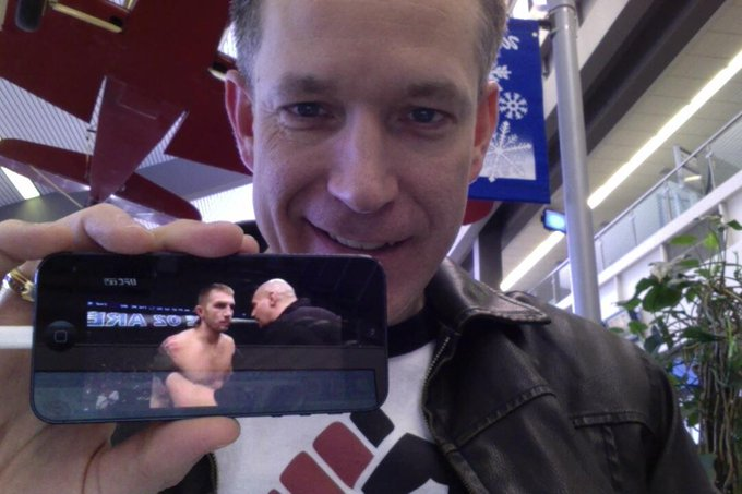 "See u at #UFC171 ""@KenneyMyers: Awesome way to kill time in the airport w/ my iPhone & #UFCFightPass! @ufcfightclub http://t.co/Br4Eh83py6"""