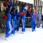 RT @KUWBball: Fans joined the spirit squads and pep band to send the team off with plenty of #RockChalk spirit! #kuwbb http://t.co/shlF28y6cR