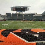 Watching the Bearcats 1st scrimmage this spring @ Paul Brown Stadium. http://t.co/LMGyBxKm0R