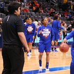 RT @KUWBball: We're warming up in @ChesapeakeArena. Send us your pictures cheering The Jayhawk Way! #kuwbb #Big12WBB http://t.co/jZRGfL6d6H