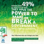 RT @Abhi_agg1: @priyankachopra 49 % Of womens voter can change govt. in india #powerof49 http://t.co/2f6gWsCYYO