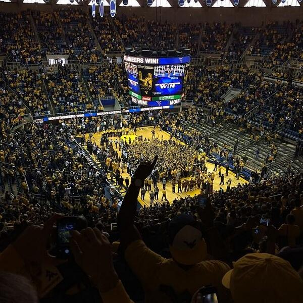 The view from up top from the sold out #WVU Coliseum! #HailWV http://t.co/PmGvoynbv6