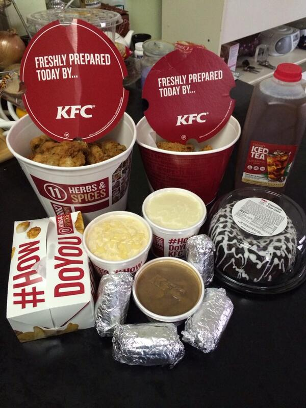 This is how we so it !!! #HowDoYouKFC Perfect for a Saturday afternoon !