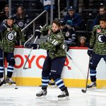 RT @NHLJets: A look at the Jets commemorative jerseys from warm up. Its Canadian Armed Forces Appreciation Day at MTS Centre! http://t.co/uq24JmlnlF