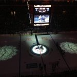 Special ceremonial face off by Canadian Armed Forces before #NHLJets game vs #Senators http://t.co/DNM3s303p6