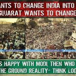 Modi wants to chaneg India into Gujarat, but Gujarat wants to change Modi If Gujarat is happy wid Modi then who they? http://t.co/zCpCFZjna3