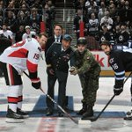 Heres the ceremonial puck drop from Canadian Armed Forces Appreciation Day! http://t.co/StuUpIs7gx