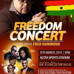 RT @fififolson: Wow!!! SO a week today Freedom Concert with @RealFredHammond will be happening live in #Ghana hv u got your #Ticket? http://t.co/YHo7lI7D7c