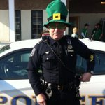 Lt Tom Sharp takes a break from the Erin Express detail to show his Irish pride. #udhero http://t.co/1uA9LXIoR8