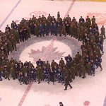 RT @IllegalCurve: 1 more photo from the post-game on ice festivities, as the #NHLJets and the military members encircle the Jets logo. http://t.co/TXkZhqaHDC