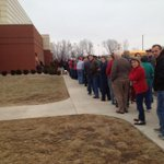 The line outside Wapahani-Frankton. No joking around here http://t.co/12o28AMyEN