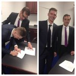 RT @washcaps: Newest Capital Evgeny Kuznetsov signing his contract earlier this evening at Verizon Center. http://t.co/njg4SDettv
