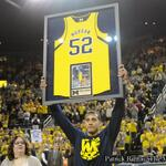 GAME: Michigan beats Indiana 84-80. A win at Jordan Morgans senior night (by @BlueBarron127) http://t.co/A13mhoLO1B