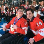RT @ABilodeau_ski: My brother and I on the Ice for the national anthem at the Maple Leafs Game http://t.co/5n8PsC3KLz