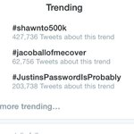 RT @ShawnnMendes: #shawnto500k has 400k tweets !  holy shit ! You guys are crazy ! ❤️❤️ http://t.co/yBJBd0fM7T