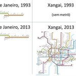 20 years of subway evolution in Rio & Shanghai http://t.co/mnOYnw5tRD