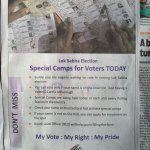 Special camps for voters r being conducted acros India 2day. Dnt mis this opportunity to enrol ur name in voterlist. http://t.co/R8TNbwwJkB