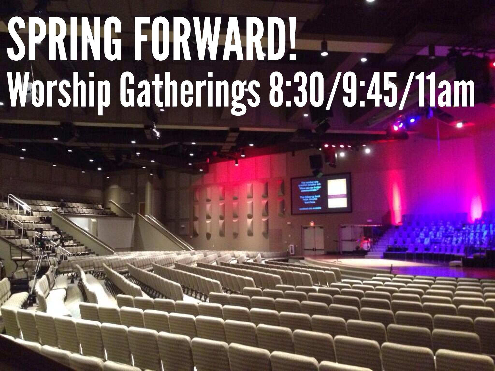 Don't forget to #SpringForward! See you for worship & Small Groups tomorrow morning! http://t.co/T0c8MCFO8P
